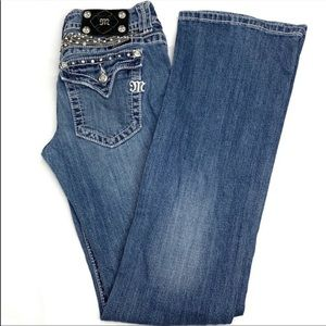 Miss Me Jeans Boot cut Denim Wings & Stone size 27